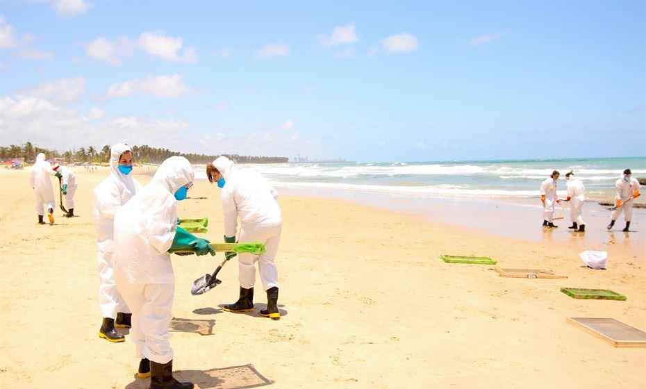 grande recife tem praias esvaziadas por derramamento de óleo