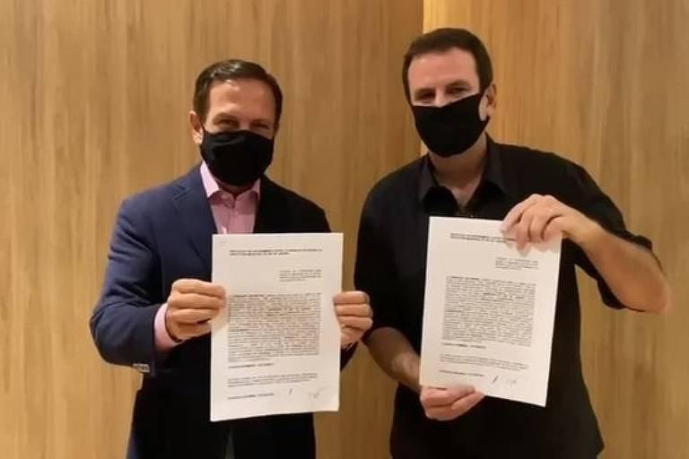 governo de sp e rj assinam termo de cooperação para compra da coronavac